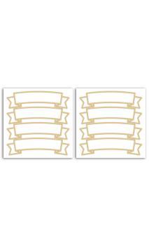 2 PL. Stickers Fantasia - Dorado Mate - Baners