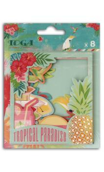 Surtido 8 Polaroids Papel Tropical Paradise