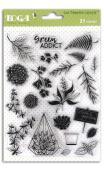 Surtido sellos Crystal® 14X18 Baner hojas/ hojarasca