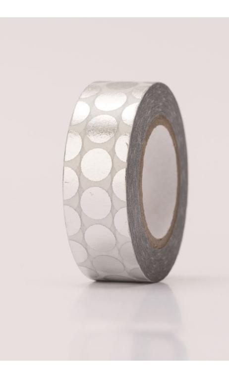 Puntos adhesivossilver, hot foil 15 mm / 10 m