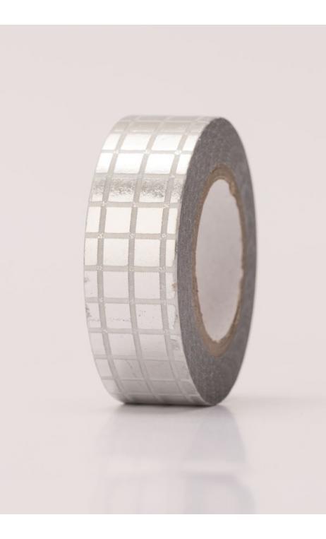 Washi Tape  rejilla platahot foil
