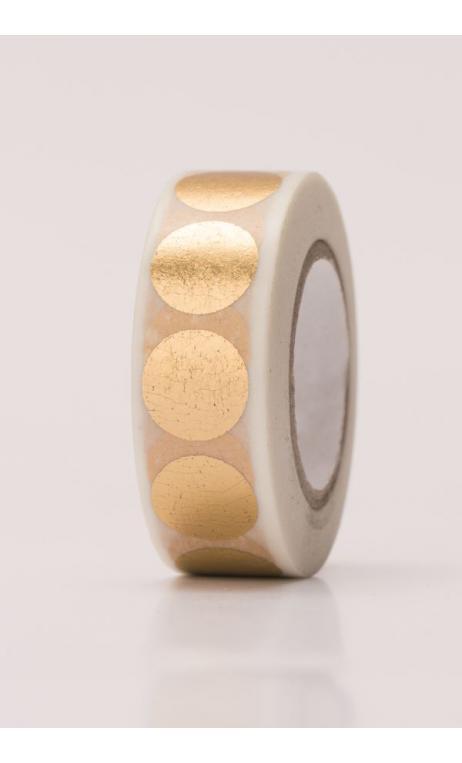 Washi Tape lunares oro hot foil