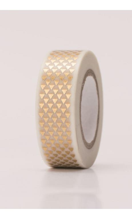 Washi Tape triangulos oro hot foil