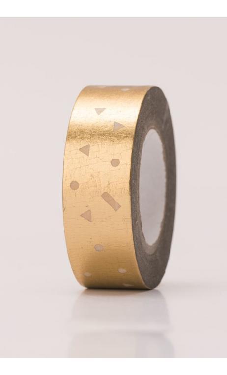 Washi Tape  confetti oro hot foil