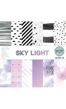 Set 12 papeles doble cara - Sky Light