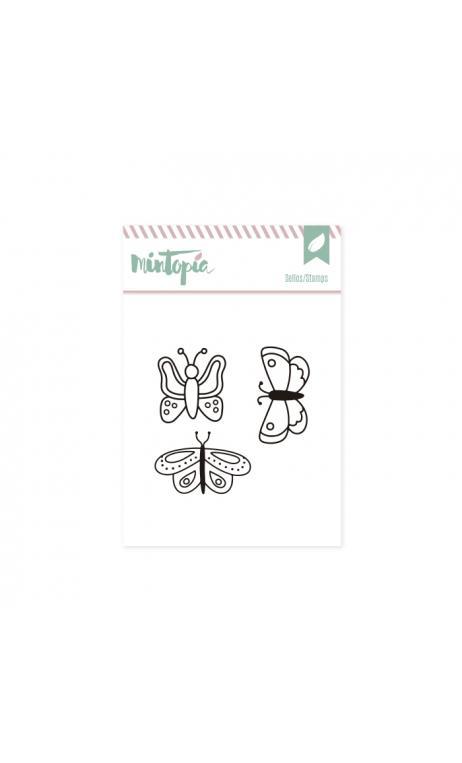 Sellos Mariposas 5 x 4,5 cm