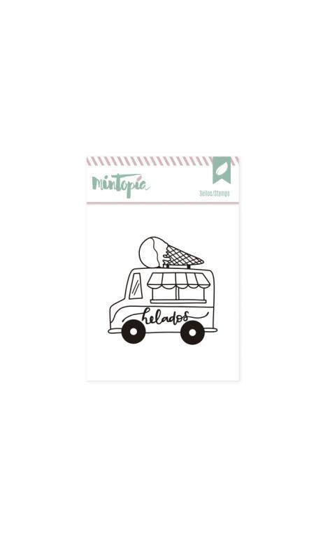 Sellos Camión helados 5 x 4,5 cm
