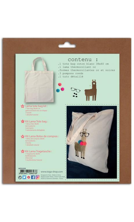 Kit tote bag lama pompones