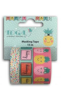 Masking tape x3 - happy days -5m