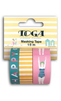 Masking tape x3 - baigneuses -5m