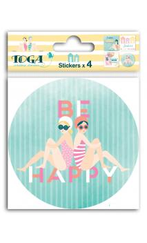 4 planchas stickers couv. 10x10 - baigneuses
