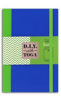 Carnet bicolor verde azul 60p 100x150 mm