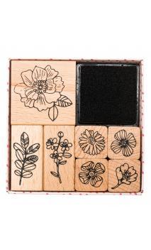 Set de sellos,hygge,flores 100 7 sellos