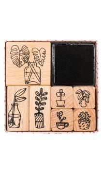 Set de sellos,hygge,plantas 100 7 sellos