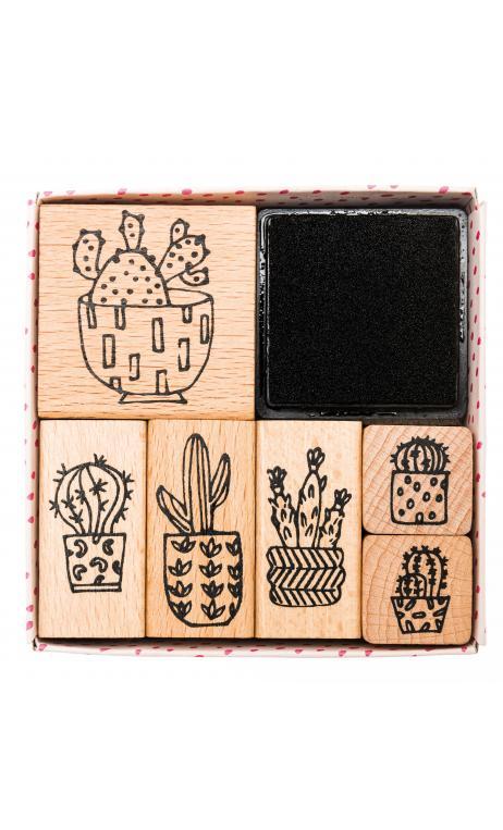 Set de sellos,hygge,cactus 100 6 sellos