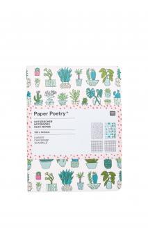 Libretas A5, plants  mix 2 stk 40 páginas