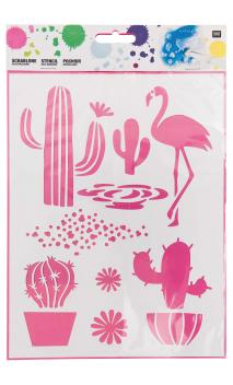 Plantilla(Stencils), surtido de cactus  18,5 cm x 24,5 cm