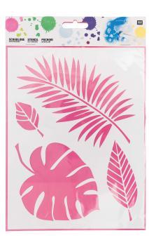 Plantilla(Stencils), surtido de hojas 18,5 cm x 24,5 cm