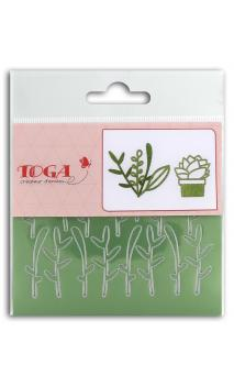 2 Hojas stickers 8x9 Peel off feuillages - verde