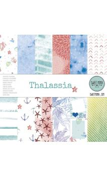 Set 12 papeles doble cara - Thalassa