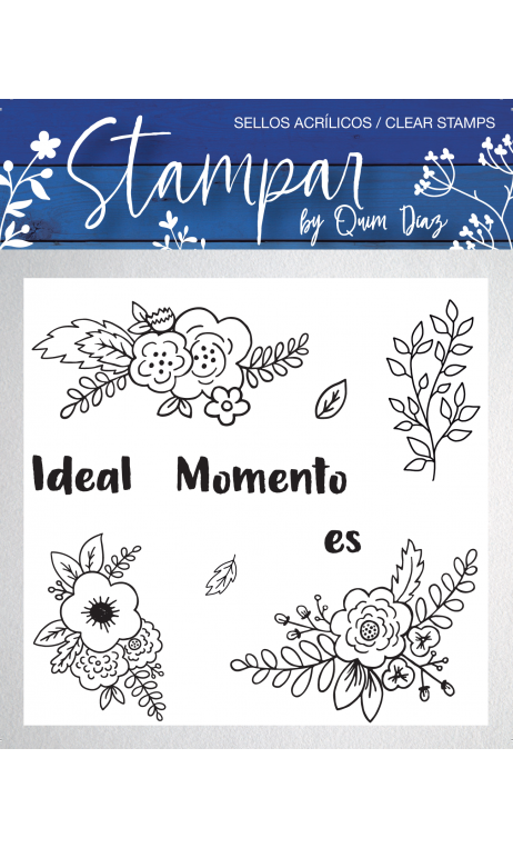 "Sellos de Silicona ""HAPPY MOMENTS""Quim Diaz"
