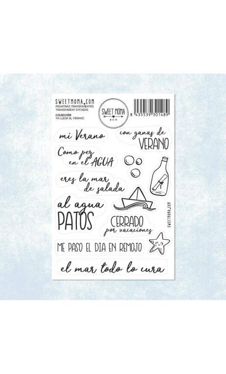 Stickers – Ya llega el verano (pack 10 ud)