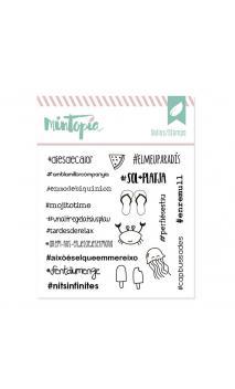 Sello Hashtags veraniegos catalán