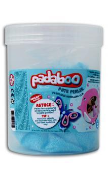 Cubo 250g plastilina perlada azul glitter