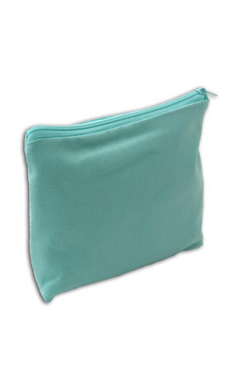 Bolsa con fuelle con cremallera mediana verde menta