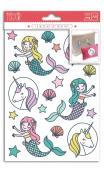 Transferible termico Surtido. color- a5- unicorn and mermaid