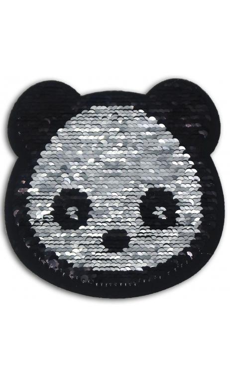 1 Thermal transferable. reversible sequins 14cm - panda