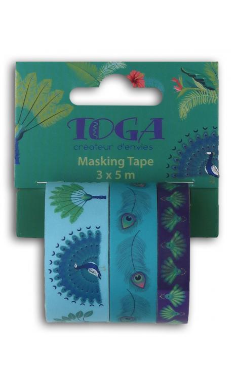 Masking tape x3 pavo real 3x5m