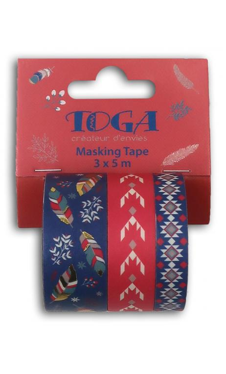 Masking tape x3 hygge oro 3x5m