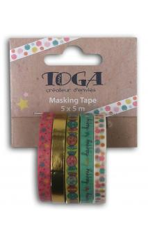 Mini masking tape x5 bujo teenager 5x5m