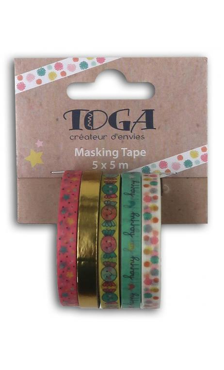 Mini masking tape x5 bujo teenager 5x5m