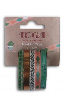 Mini masking tape x5 bujo  5x5m blogger