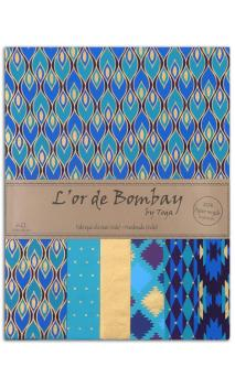 L'or de bombay 6f.Surtido.27,8x21,6cm-azul purpura