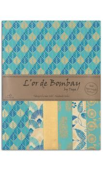 L'or de bombay 6f.Surtido.27,8x21,6cm-azur azul