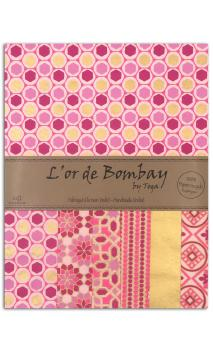 L'or de bombay 6f.Surtido.27,8x21,6cm- fucsia rosa