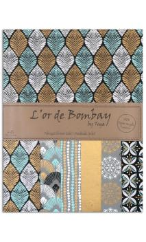 L'or de bombay 6f.Surtido.27,8x21,6cm- negro azul