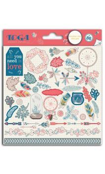 2 b. Stickers 15x15 hygge oro