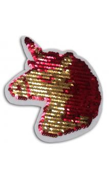 1 Sticker lentejuelas reversible 14cm - unicorn
