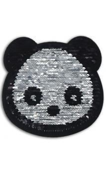 1 Sticker lentejuelas reversible 14cm - panda