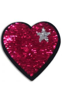 1 Sticker lentejuelas reversible 14cm - heart