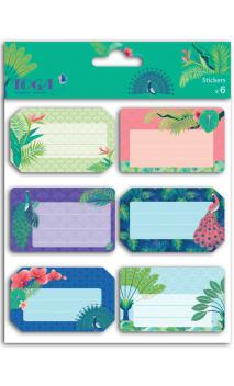 6 Notebook stickers pavo real