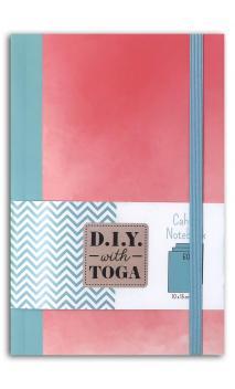 Notebook bicolor coral/verde pastel 100x150mm