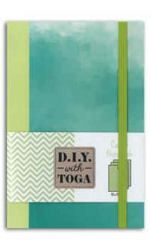 Bicolor notebook pastel green 100x150mm