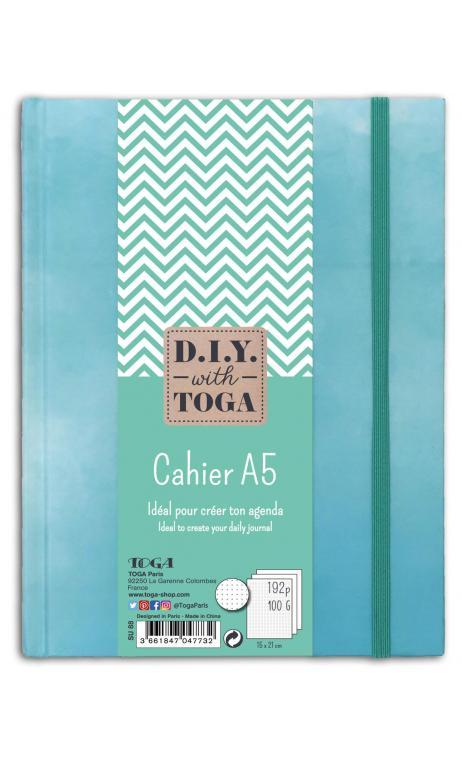 Copybook bullet  journal azul pastel  240p a5