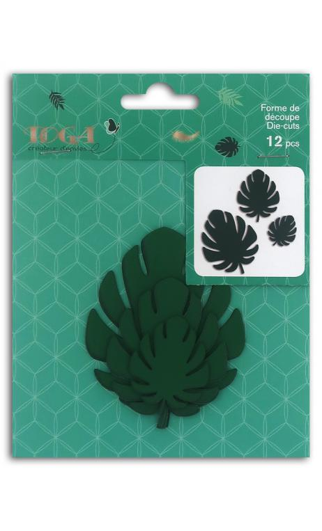 12 Die cuts bombay  filodendro verde