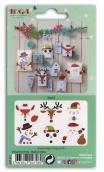Surtido 6 formas recortadas personajes Navidad